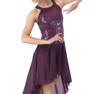 Weissman medium high low dance dress sequin